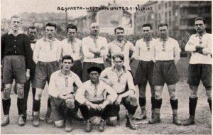 Kozeluh football player in Sparta Praha -1923