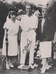 Kozeluh with S. Lenglen